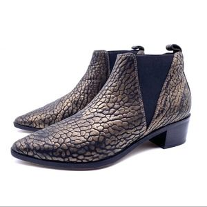 ALIAS MAE Dexter Leather Booties Ankle Boots Shoes